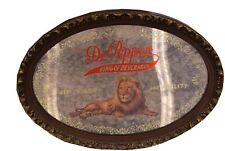 Vintage Oval Wood Look Frame Mirror DR Pepper King of Beverages Lion