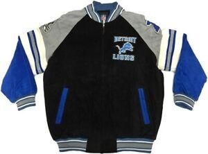 Detroit Lions NFL SUEDE LEATHER Jacket NWT