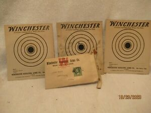 Vintage Winchester Repeating Arms .22 Caliber Targets Advertising Guns Envelope