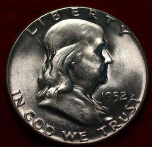 Uncirculated 1952 Philadelphia Mint Silver Franklin Half