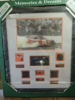 16x20 MOUNTED MEMORIES 13 OF 220 TONY STEWART SIGNED raced fire suit, etc.