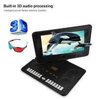 13.8 Inch Portable DVD Player 16:9 LCD FM Radio TV AVI Video Player Card Reader