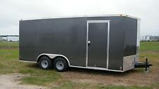 8.5x16 Enclosed Trailer Cargo V Nose Utility Motorcycle Box Lawn 18 Hauler 102""