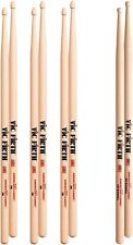 Vic Firth 5B Hickory Drumsticks WOOD Tip Value Pack Buy 3 get 4 Pairs