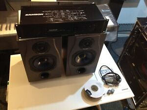 Pair of Spirit Absolute 2 studio reference monitors + Samson Servo 260 Amplfier