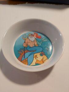 The Little Mermaid - Vintage Disney Zak Designs - Dish Bowl King Triton Ariel