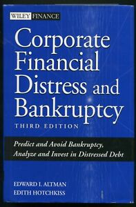 Corporate Financial Distress and Bankruptcy • Edward Altman, Edith Hotchkiss 3rd