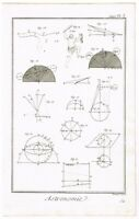 ANTIQUE PRINT VINTAGE 1777 COPPER PLATE DIDEROT ASTRONOMY ZODIAC BERNARD DIREX