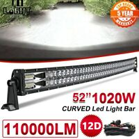 "22"" 32"" 42"" 52"" Barre LED Rampe Light bar phare de travail Offroad SUV 4X4WD ATV"