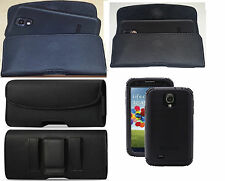 FOR SAMSUNG GALAXY S4 /S3 LEATHER POUCH BELT CLIP HOLSTER FIT BODY GLOVE CASE ON