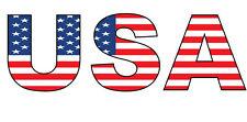 USA FILLED WITH THE AMERICAN FLAG STICKER Vinyl Sticker - 26 cm x 8 cm
