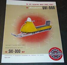 RARE VINTAGE 1964 SKI-DOO SNOWMOBILE SALES BROCHURE 4 PAGES MINT?  (983)