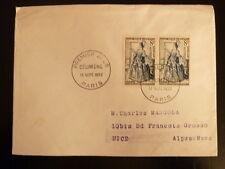 FRANCE PREMIER JOUR FDC YVERT 956  LE MISANTHROPE  MOLIERE   2X8F   PARIS   1953