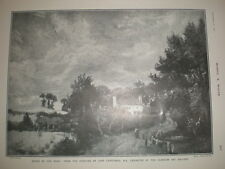 House by the Road from John Constable 1905 old print