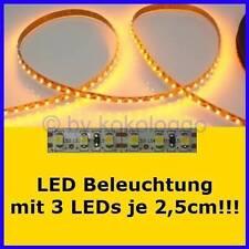 S506 LED iluminación a medida de 5cm hasta 500cm amarillo por cada 3 SMD LED en 2,5cm