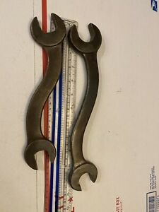 """Vintage """"S-Shaped"""" Mechanics Open End Wrench - 1""""/1 1/4"""" & 1""""/3/4"""" USA! 🇺🇸"""