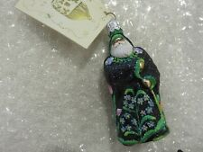 "Patricia Breen Ornament ""Mini Redoute Santa - Black Floral"" 2004 #2426 Nwt"