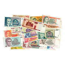 Lot of 50 different world paper money circ.-Uncirculated