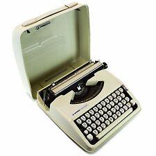 Hermes Rocket Vintage 60's White Case Portable Small Typewriter Brazil