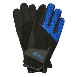 Elico Peakley Children's Riding Gloves – Black/ Blue - Size Large - SALE