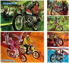 HONDA Posters CL450 CL350 CL175 CT90 SL90 Set of 6 1967 1968 1969 1970