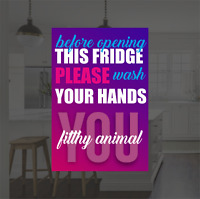 Fridge Magnet Wash your hands you filthy.. Funny/Rude Novelty Gift fridge magnet