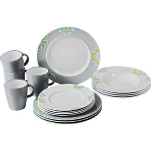 Brunner 16PC Sandhya Dinner Set Plates Cups Melamine Camping/Caravan/Motorhome