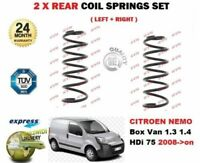 FOR CITROEN NEMO 1.3 1.4 HDi 75 VAN ESTATE 2008-> 2X REAR COIL SPRINGS SET