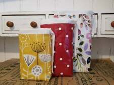 Oilcloth Produce bags - Small, Mediuim, Large - Hard wearing, Very sturdy