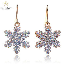 Christmas Day Jewelry Charm Snowflake Drop Dangle Hook Earrings For Women Gift