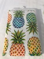 Plastic 52x90 Tablecloth with Pineapple Motif and 4 Pineapple Placemats *UNUSED