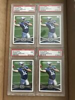 (4) ANDREW LUCK 2012 TOPPS PASSING PSA 9 LOT ROOKIE RC COLTS #140