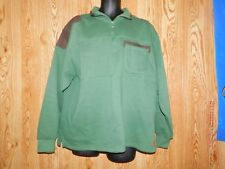 Men's Black and Green 1/4 Zip John Deere pullover sweater Size Large Pre Owned