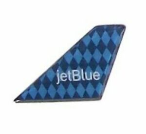 "Jet Blue Harlequin Design Tail Fin Pin Logo Lapel Collar Pin Tie Tack 3/4"""