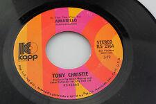 Tony Christie: Amarillo / Love is a Friend of Mine [Unplayed Copy]