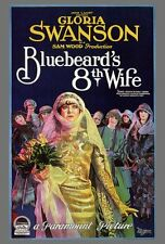 BLUEBEARD'S EIGHTH WIFE Movie POSTER 27x40 Gloria Swanson Huntley Gordon Charles