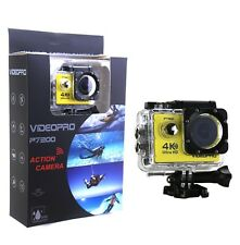 4K 30fps Ultra HD WIFI Camara para el Agua 16MP 2pulgadas LCD Amarillocomo GoPro