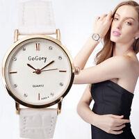 Fashion Women Stainless Steel Crystal Analog Quartz Lady Girl Dress Wrist Watch