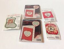 Counted Cross Stitch Christmas Ornament Kits Five (5) New