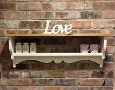 Shabby Chic Shelf/cabinet/wall Unit/shelf Unit In New White
