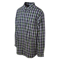 Carhartt Men's S27 Green Gray Plaid L/S Woven Shirt 2XL (Retail $45)