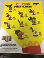 ☆ Marvel Studios Heroes ☆  YOU CHOOSE ☆ New 2020 McDonalds Happy Meal Toy