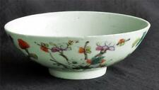 Antique Chinese Celadon Porcelain Bowl Lotus Floral  6""