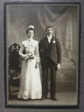 CABINET Card Wedding Photo Husband And Beautiful Bride