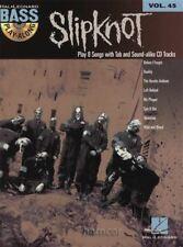 Slipknot Bass Play-Along Bass Guitar Tab Book/backing tracks CD