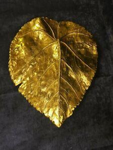Gold Leaf Wall Decor Art Plaque 29 x 35cm NEW (I)