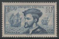 """FRANCE STAMP TIMBRE N°297 """" JACQUES CARTIER BATEAU CANADA 1F50"""" NEUF xx SUP K460"""