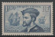 "FRANCE STAMP TIMBRE N°297 "" JACQUES CARTIER BATEAU CANADA 1F50"" NEUF xx SUP K460"