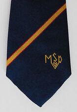 MSD MSP logo tie school company or corporate tie Striped William Turner & Son