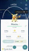 Shiny Pikachu wearing Mimikyu costumes Pokemon Go - Trade